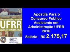 Apostila Concurso Público Assistente em Administração   UFRR 2016  