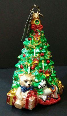 radko gifted splendor limited edition 6121000 christmas tree glass ornament nwt