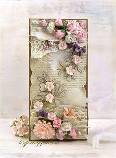 Klaudia/Kszp, Card with paper flowers