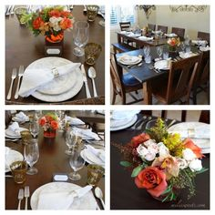 my thanksgiving at home - family, pies, floral and table setting, via milissweets.com