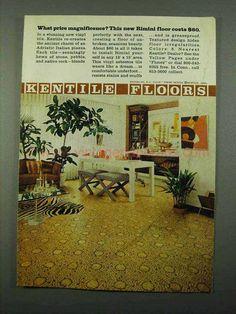 1969 Kentile Rimini Floor Ad - What Price Magnificence-This is a 1969 ad for a Kentile Rimini Floor! The size of the ad is approximately 1960s Interior Design, Floor Design, Vintage Ads, Mocha, Beige, Flooring, Dreams, House, Moka