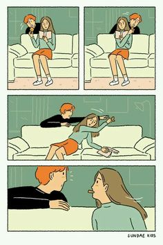 Sweet Illustrations About Love That People In Love Can Relate Cute Couple Comics, Couples Comics, Comics Love, Cute Couple Cartoon, Cute Couple Art, Cute Comics, Sundae Kids, Romantic Comics, Relationship Comics