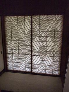 界 津軽  こぎん障子  青森  Tusgaru Kogin Embroidery at Hoshino Resort Tsugaru in Japan