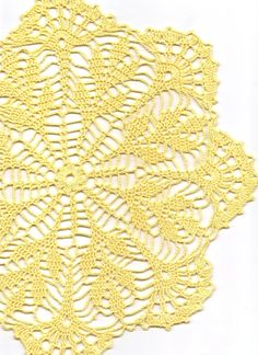 Crochet doily, lace doilies, table decoration, crocheted doilie, center piece, hand made, wedding doily, napkin, Yellow, wedding