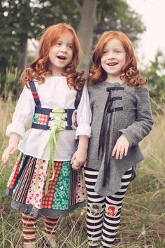 Twins red head girls