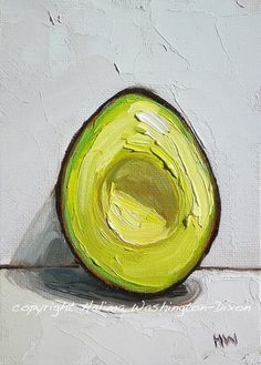 "painting by Halima Washington-Dixon-2009 ""Avocado Half"""