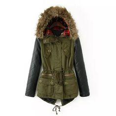 2014 Casacos Mulheres casaco de inverno jaqueta mulheres feminino capuz guaxinim peles pu inverno luva de couro jaqueta parka mulheres Plus Size em Casacos de Plumas e Parcas de Roupas & acessórios no AliExpress.com   Alibaba Group