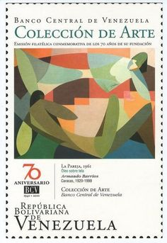 Postal: La Pareja, 1961 (Venezuela) (Ipostel - Art Collection - BCV) Col:ve_ipostel_CDABCV_02