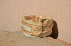 Ceramic mini bowl.