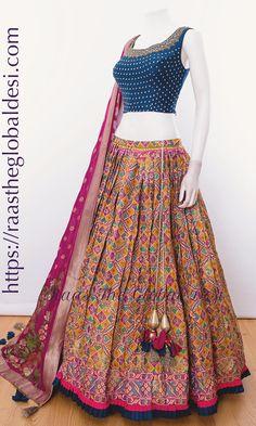 CHOLI-Raas The Global Desi-CHANIYA CHOLI-[chaniya_choli]-[chaniya_choli_online_USA]-[chaniya_choli_for_garba]-[chaniya_choli_for_navratri]-Raas The Global Desi Designer Lehnga Choli, Garba Chaniya Choli, Garba Dress, Lehnga Dress, Lehenga Blouse, Bandhani Dress, Sangeet Outfit, Anarkali Lehenga, Frock Dress