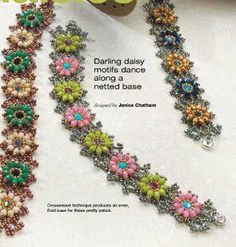 Bracelet with Links-colors Tutorial - 1 Beaded Bracelet Patterns, Jewelry Patterns, Beading Patterns, Beading Projects, Beading Tutorials, Seed Bead Jewelry, Beaded Jewelry, Seed Beads, Jewellery