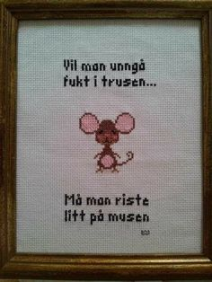 Funny Images, Funny Pictures, Diy And Crafts, Funny Quotes, Cross Stitch, Jokes, Nye, Embroidery, Humor