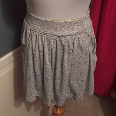 """Express cotton skirt NWOT Large Express cotton skirt. Has pockets on both sides. 15"""" long Express Skirts"""