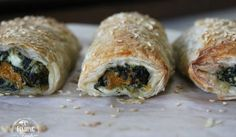 Roasted Pumpkin, Spinach, Feta & Ricotta Rolls | Finding Feasts