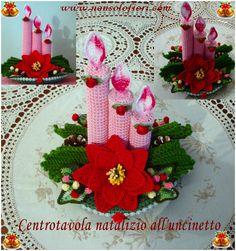 Centrotavola Natalizi Alluncinetto.71 Fantastiche Immagini Su Natale Creazioni All Uncinetto Www