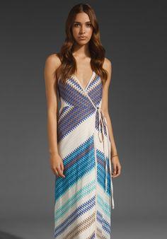 KARINA GRIMALDI Florence Wrap Dress in Royal Knit at Revolve Clothing - Free Shipping!