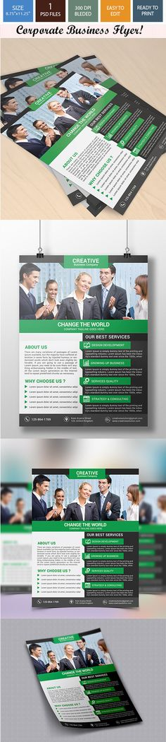 Corporate Business Flyer on Behance