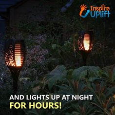 Introducing our cozy Outdoor Solar Flame Light Torch! These torches cast a safe soft mood-enhancing and realistic flame. The secret lies in the advanced circuitry that's built inside of the lantern controlling Solar Light Bulb, Solar Light Crafts, Tiki Lights, Solar Lights, Outdoor Fire, Outdoor Living, Fire Pit Construction, Modern Fire Pit, Fire Pit Designs
