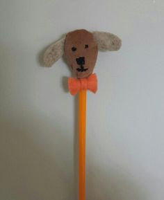 Diy dog pencil topper !!!! What do you guys think? Do you like it?