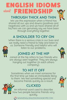 Englsh Idioms about Friendship. Increase English vocabulary. #learnenglish #englishlessons #englishteacher #ingles #aprenderingles