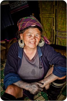 vietnamese woman who works with indigo dye. Indigo Dye, Documentary, Vietnam, Art Photography, Captain Hat, Faces, Woman, My Love, Fashion