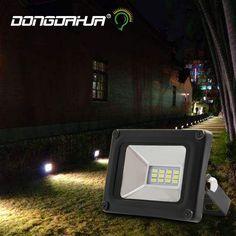 Ultrafino LEVOU luz de inundação 10 W 20 W 30 W 50 W Preto AC176-264V À Prova D' Água IP65 Ao Ar Livre Holofote de Iluminação Projetor lâmpada