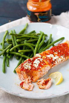 Broiled Salmon with Red Pepper Tapenade and Goat Cheese by foodiebride, via Flickr