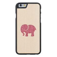 Elegant trendy girly cute elephant carved® maple iPhone 6 case