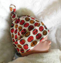 Newborn hospital hat, infant hospital hat, organic cotton hat, ecofriendly baby hat, baby knot hat, organic infant hat, newborn knot hat - pinned by pin4etsy.com