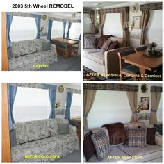 A couple after pics of our 2003 American Star 5th wheel.  We loved the colors of our Simplicity Sofa in our last RV so we went with the same only this time in a Simplicity Sofas pull out sofa bed.