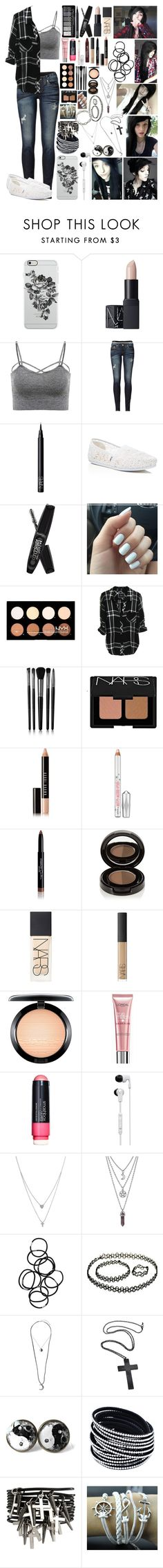"""""""Alex Dorame ~12~"""" by i-am-the-one-and-only ❤ liked on Polyvore featuring Uncommon, NARS Cosmetics, True Religion, TOMS, Rimmel, Illamasqua, Bobbi Brown Cosmetics, Benefit, Givenchy and Anastasia Beverly Hills"""