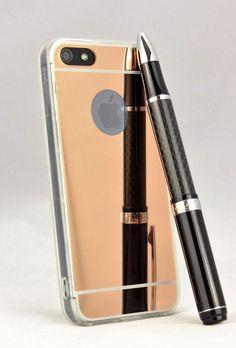 HANDY SPIEGEL HÜLLE + PANZER GLAS FOLIE Silikon Case Cover Schutz iPhone 5 5s | eBay