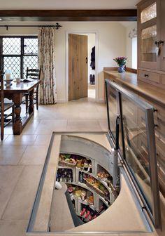 Furniture, Astonishing Original Wine Cellar With Rectangular Glass Trap Door ~ Amazing Trap Door Wine Cellar Design Ideas