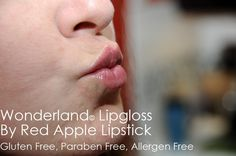 "@Red Apple Lipstick - ""Wonderland"", $18.50 - LOVE this clear Gluten Free Gloss"