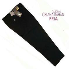 Celana Panjang Kantor Formal Pria Bahan Tessa / Teflon warna Hitam / Biru Donker /Hijau Army size 32, 33, 34, 35, 36, 37, 38 merk CARDINAL