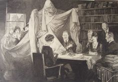 Pencil on cardboard drawing by Frederic Rodrigo Gruger for a Saturday Evening Post story, 1928