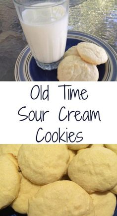 This sour cream cookie recipe might be 100 years old, but it's still a favorite. Plus, it's so easy to make. The sour cream helps make them moist, too. Sour Cream Biscuits, Make Sour Cream, Sour Cream Pancakes, Sour Cream Chocolate Cake, Homemade Sour Cream, Sour Cream Desserts, Sour Cream Sugar Cookies, Sour Cream Chicken, Sour Cream Sauce