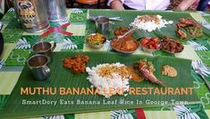 Muthu Banana Leaf Restaurant – Original Muthu Chettinad Mess Banana Leaf Plates, Banana Leaf Rice, Black Pepper Chicken, Parboiled Rice, Fish Curry, Chicken Stuffed Peppers, Lassi, The Dish