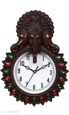 Checkout this latest Wall Clocks Product Name: *Aarav Arts Designer Analog Wall Clock* Material: Plastic Pack: Pack of 1 Product Length: 32.5 cm Product Breadth: 22.5 cm Product Height: 6 cm Country of Origin: India Easy Returns Available In Case Of Any Issue   Catalog Rating: ★3.8 (232)  Catalog Name: Classic Wall Clocks CatalogID_2070395 C127-SC1440 Code: 044-11126367-5001