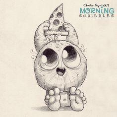 Pizza Friday!  #morningscribbles  #pizza
