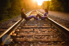 Train Tracks Engagement Pictures