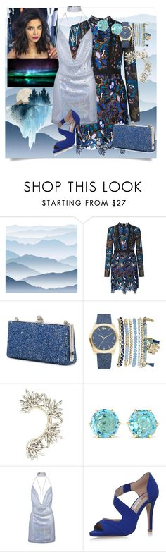 """""""Night is crazy"""" by robbys73 ❤ liked on Polyvore featuring York Wallcoverings, self-portrait, Jimmy Choo, Mixit, BCBGMAXAZRIA, Ippolita and Miss KG"""