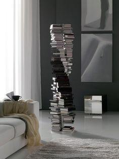 DNA bookcaseè la libreria a forma di doppia elica, come quella del DNA. È realizzata in acciaio da Cattelan Italia ed è disponibile in differenti colori qui. Viaohgizmo.com