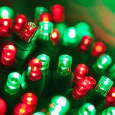 e7109c1dbba Wintergreen Lighting 24 ft. 70-Light Red and Green 5 mm LED Mini Light Set