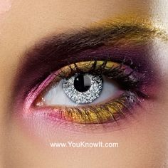 Colour Vision Glimmer Silver Contact Lenses (Pair)
