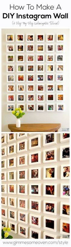 A step-by-step tutorial for how to turn your favorite Instagram photos into an Instagram Wall! gimmesomeoven.com/style #diy