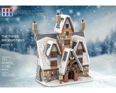 Lego Winter Village, Lego Village, Harry Potter Dolls, Lego Harry Potter, Lego Hogwarts, Lego Christmas, Cool Lego, Awesome Lego, Lego Worlds