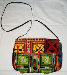INDIAN VINTAGE BANJARA CLUTCH EMBROIDERY BOHO ETHNIC PURSE HANDMADE TRIBAL BAG #handmade #Clutch
