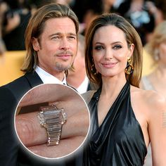 Angelina Jolie and Brad Pitt Designer: Robert Procop  Stone: 7-carat table-cut centre diamond. Set on a yellow-gold band  Estimated cost: $250,000  Engagement date: April 2012