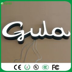 Factory Outlet Outdoor Acrylic LED lighted sign letters with super high brightness